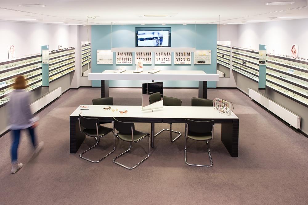 Verkaufsraum im Optikhaus Krefeld